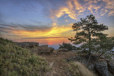 Photograph - Fiery Sunrise From Atop Mt. Nebo - Arkansas by Jason Politte