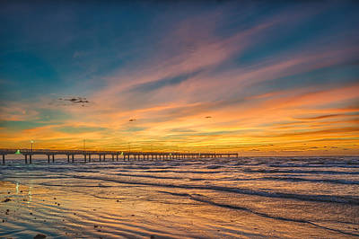 Gulf Of Mexico Photograph - Fiery Sunrise On The Beach by Tod and Cynthia Grubbs