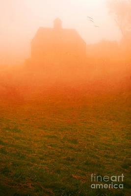 Fiery Sunrise On The Farm Art Print by Edward Fielding