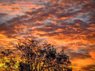 Fiery Sunrise Over County Clare Art Print