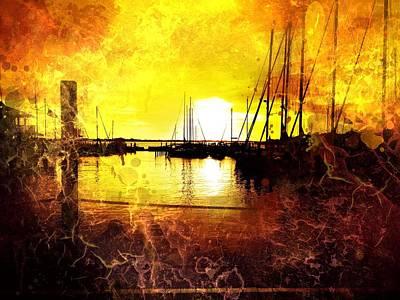 Fiery Sunset Art Print by Beth Williams