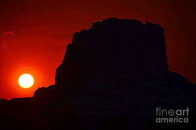 Photograph - Fiery Sunset by Debra Thompson