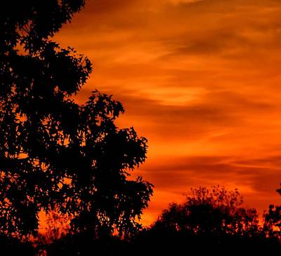 Photograph - Fiery Sunset by Deena Stoddard