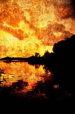 Fiery Sunset Art Print by Randi Kuhne