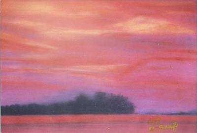 Painting - Fiery Sunset by Robert Bray