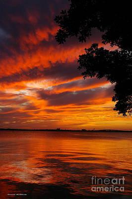 Fiery Sunset Art Print