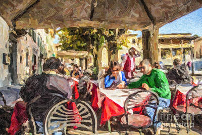 Fiesole Al Fresco Art Print