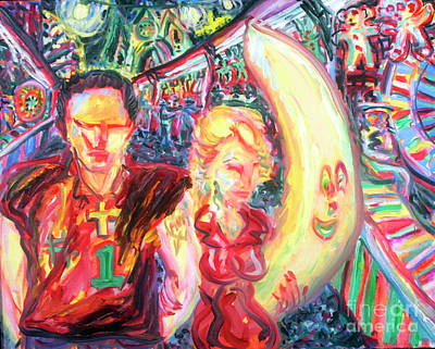 Surreal Painting - Fiest Couple by Arthur  Robins