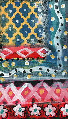 Airport Maps - Fiesta 4- colorful pattern painting by Linda Woods