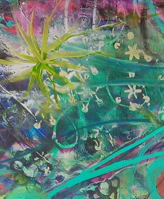 Painting - Fiesta 5 Detail 1 by Gillian Pearce