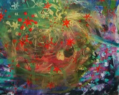 Painting - Fiesta 6 Detail 1 by Gillian Pearce