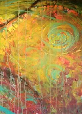 Painting - Fiesta 6 Detail 2 by Gillian Pearce