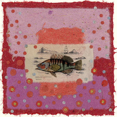 Montage Mixed Media - Fiesta Fish Collage by Carol Leigh