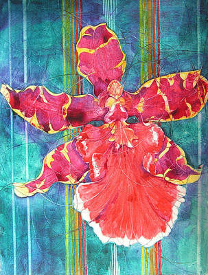 Painting - Fiesta Orchid by Annika Farmer