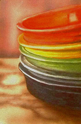 Fiestaware Painting - Fiestware Art by Todd Spaur