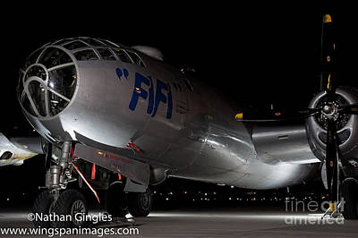 B-29 Photograph - Fifi In The Dark by Nathan Gingles