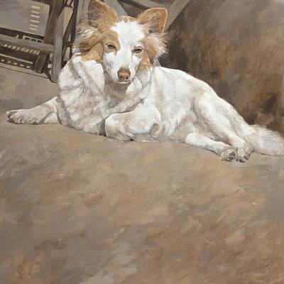 Commision Painting - Fifi Sunbathing by Anke Classen