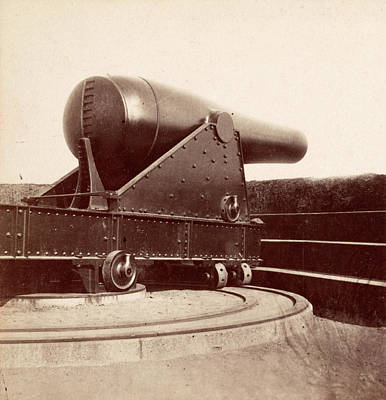 Fifteen Photograph - Fifteen-inch Gun In Battery Rodgers On The Potomac by Litz Collection