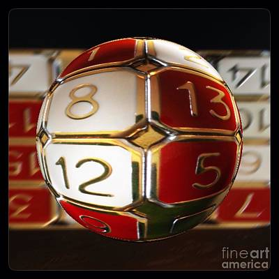 Photograph - Fifteen Tile Puzzle Globe Two by Susan Garren