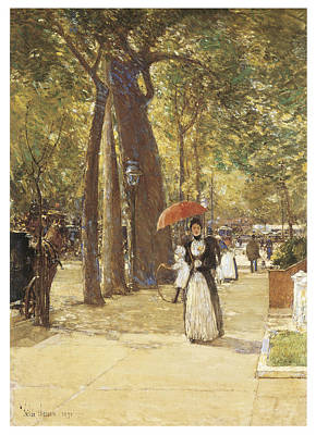 Fifth Avenue At Washington Square Print by Childe Hassam