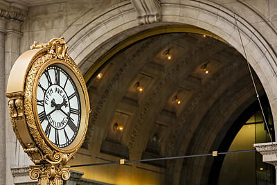 Empire State Photograph - Fifth Avenue Building Clock by Susan Candelario