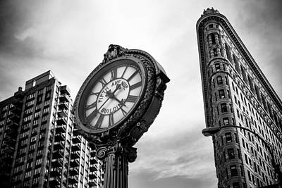 Photograph - Fifth Avenue Building Clock by Jose Maciel