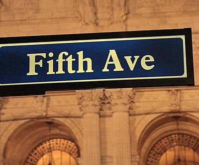 Fast Taxi Photograph - Fifth Avenue by Dan Sproul