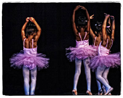 Child Ballerina Photograph - Fifth Position by Ayesha  Lakes