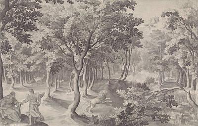 Hugo Drawing - Fifth Vision Of Ezra, Nicolaes De Bruyn, Hugo Allard by Nicolaes De Bruyn And Hugo Allard