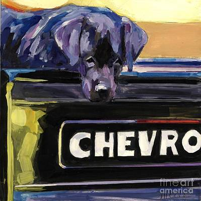 Chevy Truck Painting - Fifty One by Molly Poole