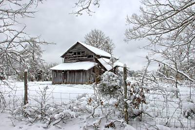 Barns In Snow Photograph - Fifty Shades Of Grey by Benanne Stiens