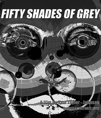 Painting - Fifty Shades Of Grey Black And White Poster Style by David Lee Thompson