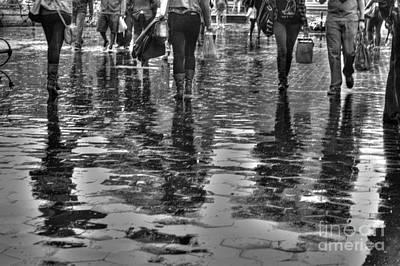 Greenwich Village Photograph - Fifty-six Legs by David Bearden