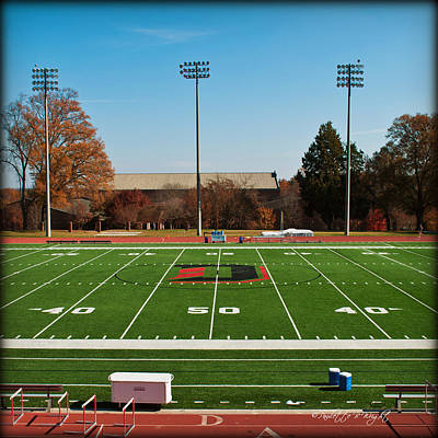 Photograph - Fifty Yard Line At Richardson Stadium - Davidson College by Paulette B Wright