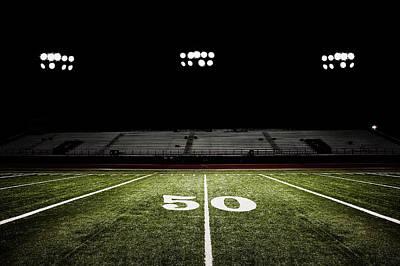 Fifty-yard Line Of Football Field At Art Print by Jgareri