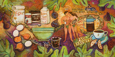 Garden-of-eden Painting - Fig Biscotti Recipe by Jen Norton