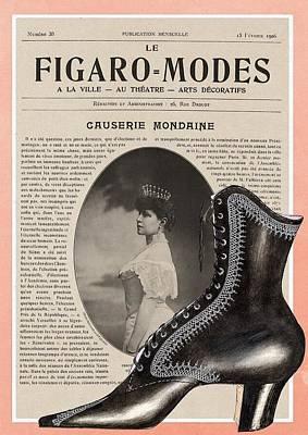 Figaro Modes Collage Art Print
