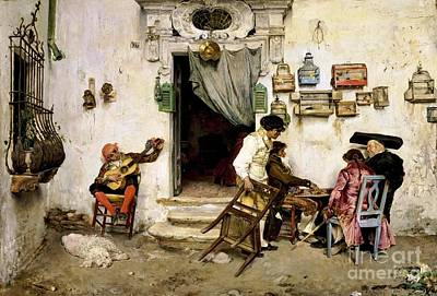 Cage Painting - Figaro's Shop by Pg Reproductions