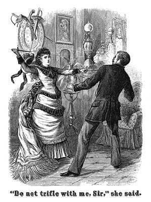 Fight, 19th Century Art Print by Granger