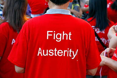 Photograph - Fight Austerity T-shirt by Valentino Visentini