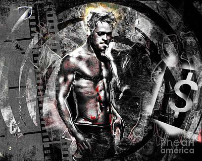 Movie Art Painting - Fight Club by Ryan Rock Artist