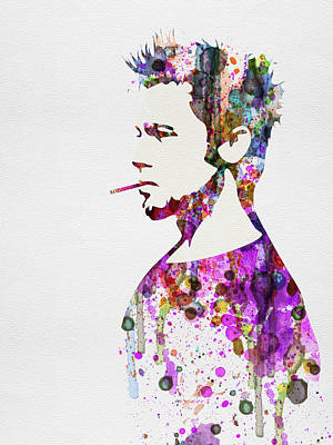 Actor Painting - Fight Club Watercolor by Naxart Studio