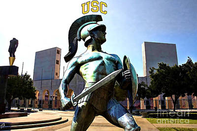 Southern Universities Digital Art - Fight On by Tommy Anderson