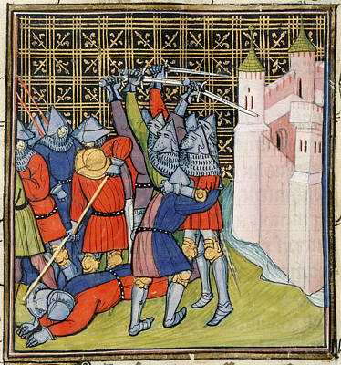 Fight Outside Meaux Art Print by British Library