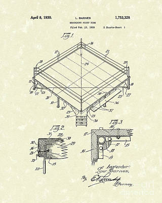 Drawing - Fight Ring 1930 Patent Art by Prior Art Design
