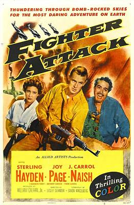 Sterling Hayden Photograph - Fighter Attack, Us Poster, From Left by Everett