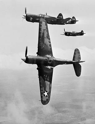 Warhawk P40 1943 Photograph - Fighter Pilot Training, 1943 by Science Photo Library