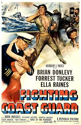 1951 Movies Photograph - Fighting Coast Guard, Us Poster by Everett
