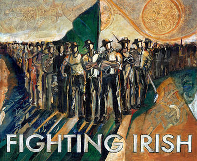 Immigrant Painting - Fighting Irish Pride And Courage by Revere La Noue