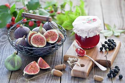 Jar Photograph - Figs And Jam by Verdina Anna